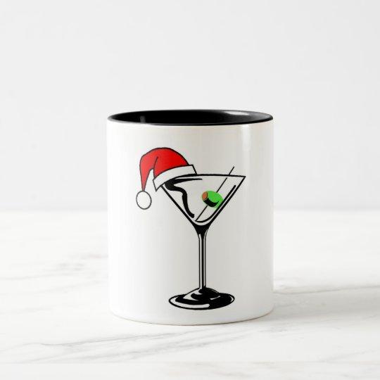 Christmas Martini Two-Tone Coffee Mug