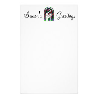 Christmas Mary and Baby Jesus Art Stationery