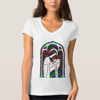 Christmas Mary and Baby Jesus Art T-Shirt