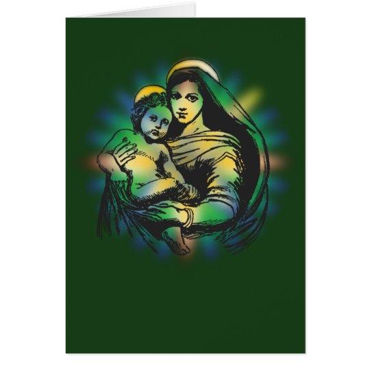 Christmas Mary and Jesus Card