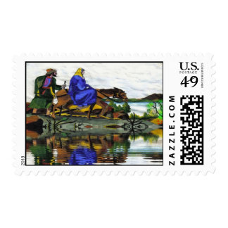 Christmas Mary and Joseph Collectors Stamp
