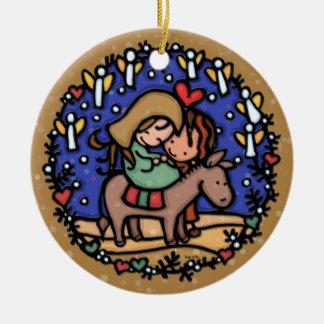 Christmas Mary Joseph Angels Rejoice CAMEL Christmas Ornaments