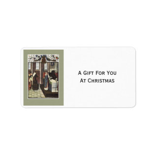 Christmas Mass Gift Tag Name Tag Label Sticker at Zazzle