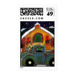 Christmas Mass Holiday Stamp