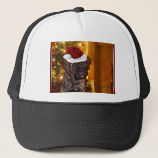 Christmas Mastiff Puppy Trucker Hat