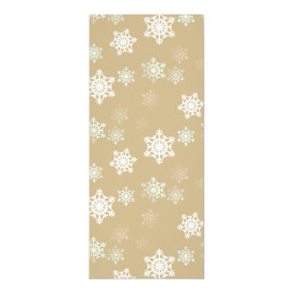 Christmas Matte Gold Snow Flakes Card