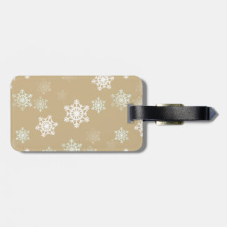 Christmas Matte Gold Snow Flakes Tag For Luggage