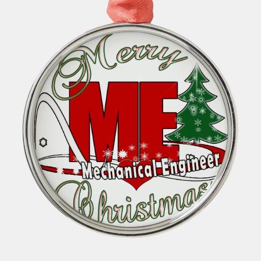 Christmas me mechanical engineer metal ornament zazzle
