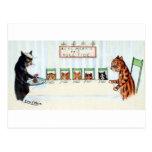 Christmas meal, Louis Wain Postcard