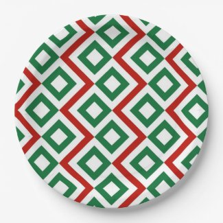 Christmas Meander 9 Inch Paper Plate