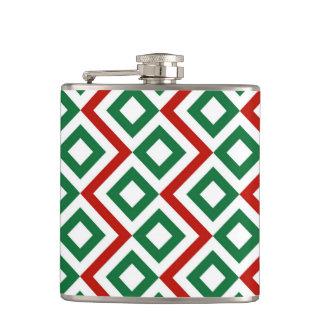 Christmas Meander Flask