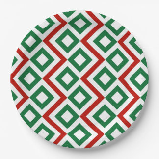 Christmas Meander Paper Plate