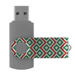 Christmas Meander Swivel USB 3.0 Flash Drive