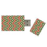 Christmas Meander Wood USB 3.0 Flash Drive