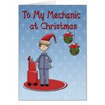 Christmas Mechanic Greeting Greeting Cards
