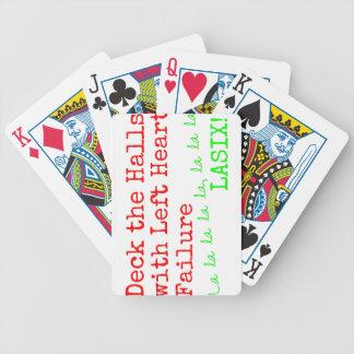 "Christmas Medical Humor ""Deck the Halls"" Bicycle Playing Cards"
