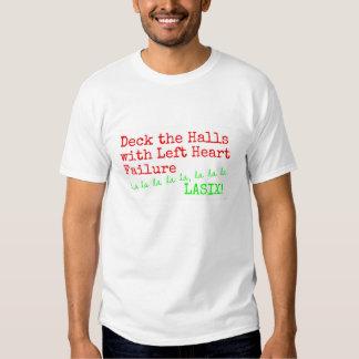"""Christmas Medical Humor """"Deck the Halls"""" Tees"""