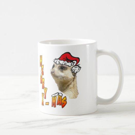 Christmas Meerkat Coffee Mug