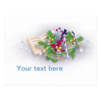 Christmas melody postcard