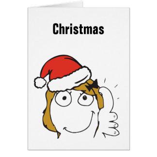 Christmas Meme Troll Le Me Blonde Custom EDITABLE Card
