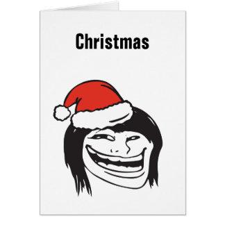 Christmas Meme Troll Le Me Woman  Custom EDITABLE Card