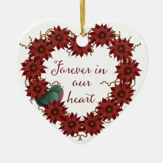 Christmas Memorial - Forever in our Heart Ceramic Ornament