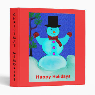 Christmas Memories Binder with Snowman
