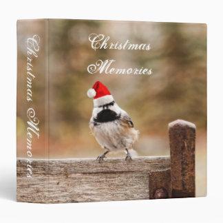 "Christmas Memories Chickadee 1.5"" Photo Album 3 Ring Binder"