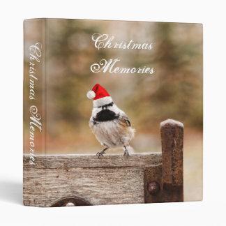 "Christmas Memories Chickadee 1"" Photo Album Binder"