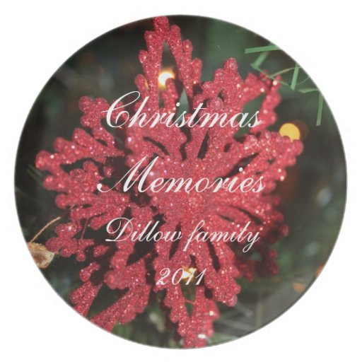 CHRISTMAS MEMORIES  FAMILY PLATE TEMPLATE
