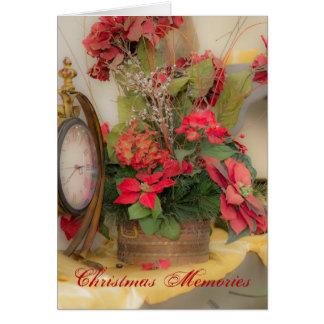 Christmas Memories Poinsettia Card
