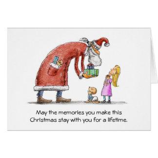 Christmas Memories Santa Greeting Card