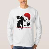 Christmas Men's T-Shirt Santa Cow