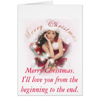 christmas, Merry Christmas.  I'll love you from... Stationery Note Card