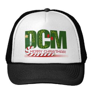CHRISTMAS MERRY DCM - DOCTOR CHIROPRACTIC MEDICINE TRUCKER HAT