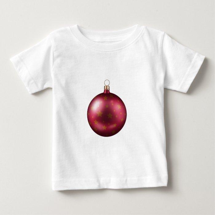Christmas Merry Holiday Tree Ornaments celebration Baby T-Shirt