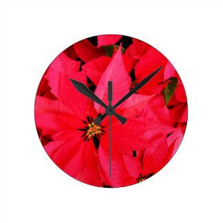 Christmas Merry Holiday Tree Ornaments celebration Round Clocks