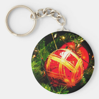 Christmas Merry Holiday Tree Ornaments celebration Keychain