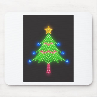 Christmas Merry Holiday Tree Ornaments celebration Mouse Pads