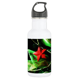 Christmas Merry Holiday Tree Ornaments celebration 18oz Water Bottle