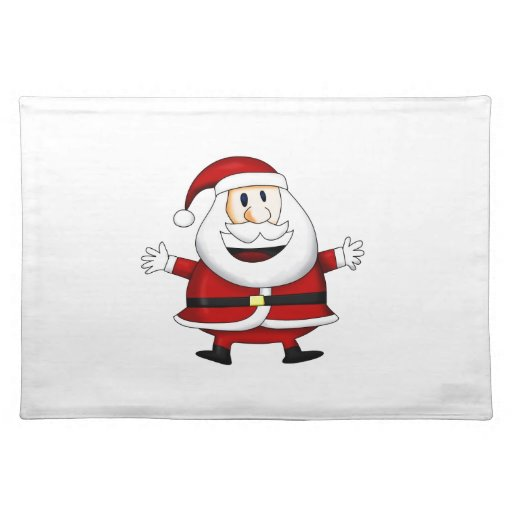 Christmas Merry Holiday Tree Ornaments celebration Place Mat