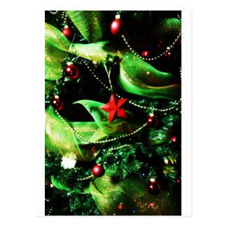 Christmas Merry Holiday Tree Ornaments celebration Postcards