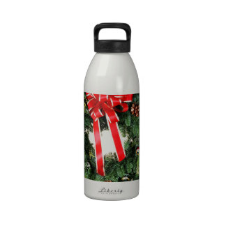 Christmas Merry Holiday Tree Ornaments celebration Water Bottle