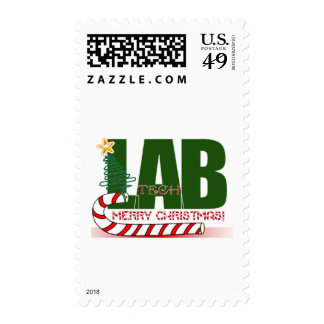 CHRISTMAS MERRY LABORATORY - LAB TECH POSTAGE