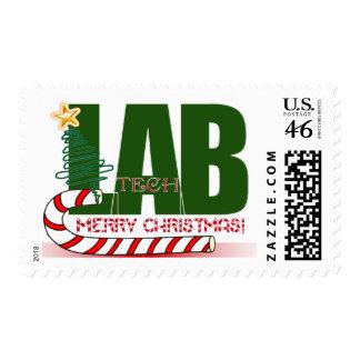 CHRISTMAS MERRY LABORATORY - LAB TECH STAMP