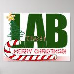 CHRISTMAS MERRY LABORATORY - LAB TECH POSTER
