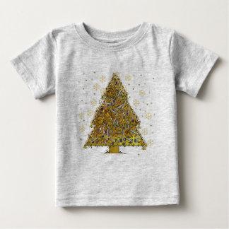 Christmas Metal Tree Baby T-Shirt