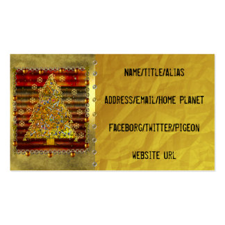 Christmas Metal Tree Business Card