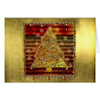 Christmas Metal Tree Card