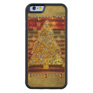 Christmas Metal Tree Carved® Maple iPhone 6 Bumper